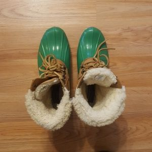 Sperry for J.Crew duckboots, size 7